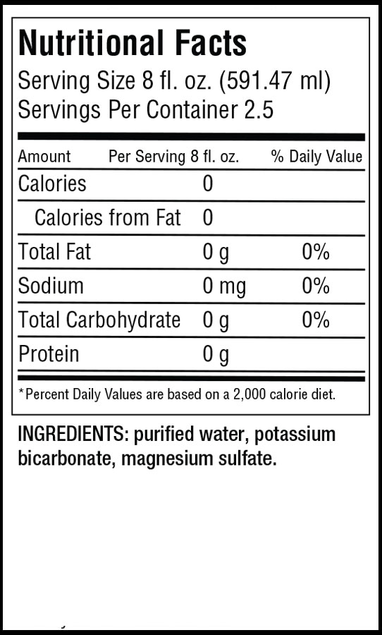 Stark Alpha H2O pH Perfect Nutrition Label